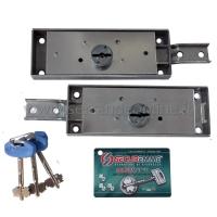 Coppia di serrature laterali con chiave a doppia mappa